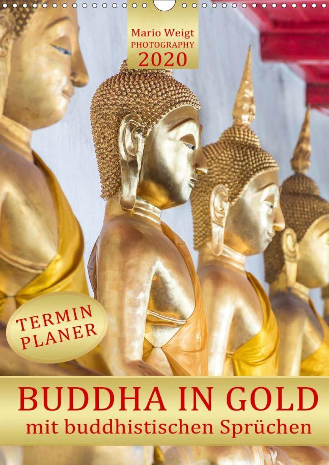 Der neue Kalender Buddha in Gold mit Terminplaner für 2020 von Mario Weigt